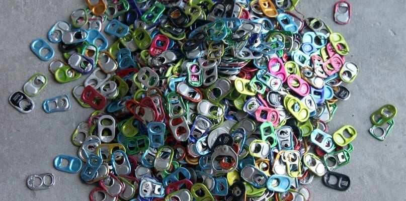Soda can tabs were used as components of the sculpture made at The Queens Museum