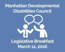 March 11th: Manhattan DD Council's Legislative Breakfast