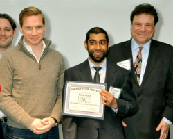 Adil Sanai Receives Pace University's Elevator Pitch Contest Award