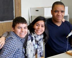 NYU Student Interns Visit AHRC Middle/High School