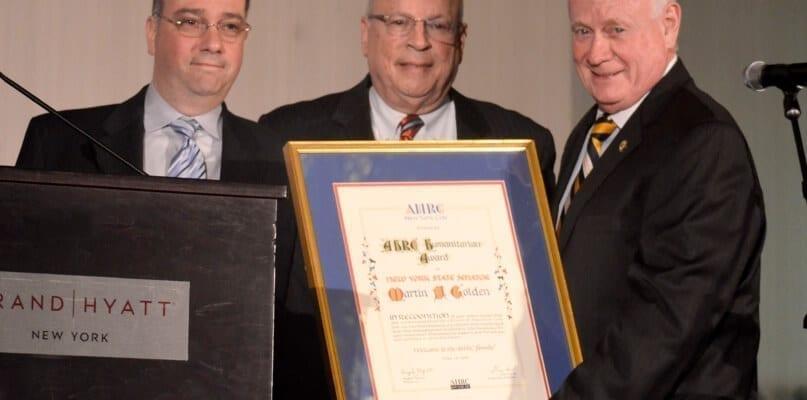 Raymond Ferrigno, Angelo Aponte, and State Senator Martin J. Golden