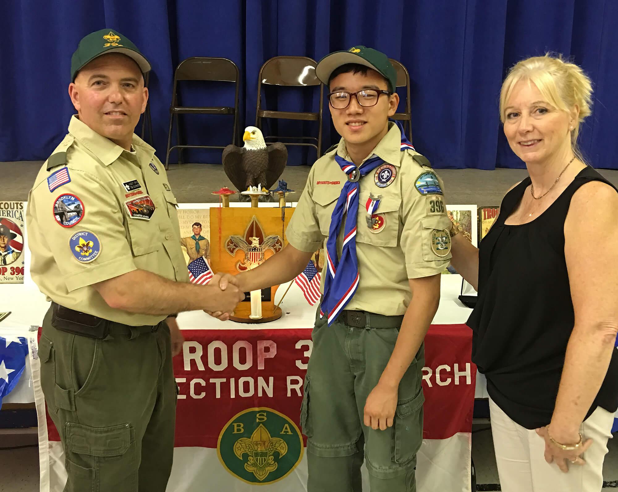 Boy scout receives Rare Award