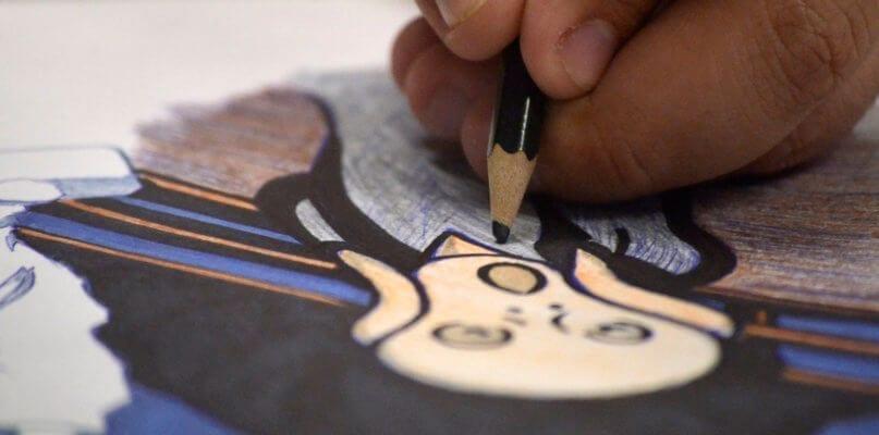 Jabriel Perez draws The Scream
