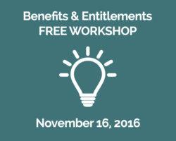 November 16th Topic: Benefits & Entitlements