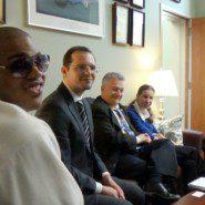 Chad DeRoche, Nick Legowski, Steve Towler, and Kristin Thatcher at Senator Savino's Office