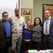 Self advocates from AHRC NYC meet with Legislative Aides from Senator Diane J. Savino's Office