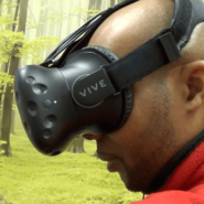 The VR goggles provides Cory with a three dimensional art canvas