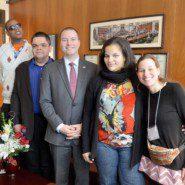 Visiting Senator Ortt