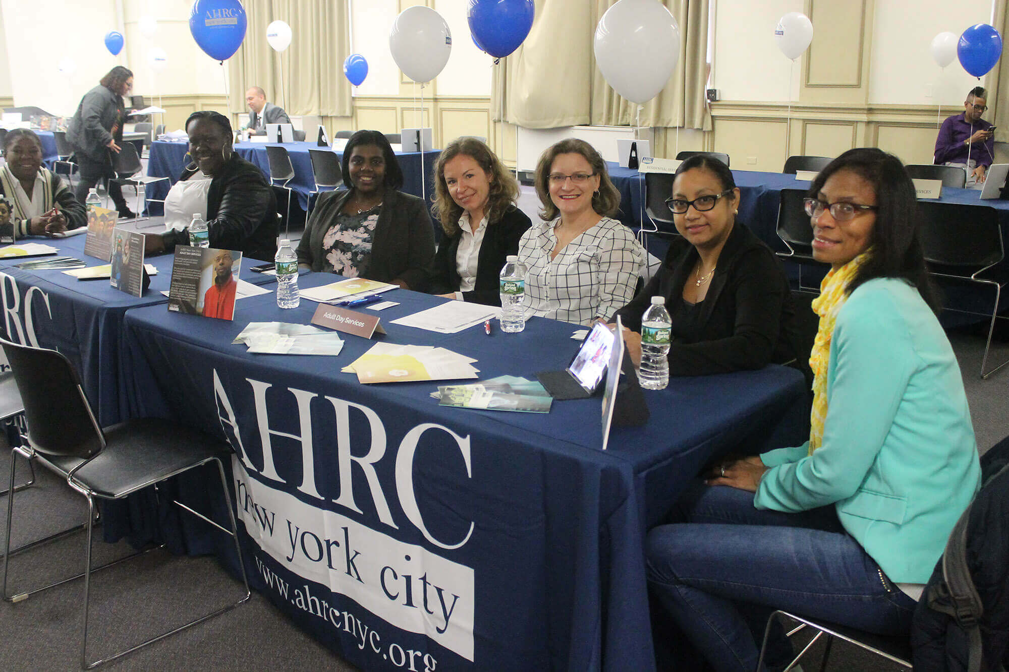 Representatives from various AHRC NYC programs were on hand to greet job seekers