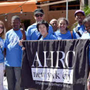 Parade marchers from AHRC NYC's Employment and Business Services