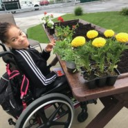 Tasia Pitt at Howie Stone Accessible Garden for homepage banner