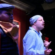 Allen Williams Jr. performs a song as young Ebenezer Scrooge
