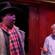 Robert Rivera performs a solo in the holiday musical