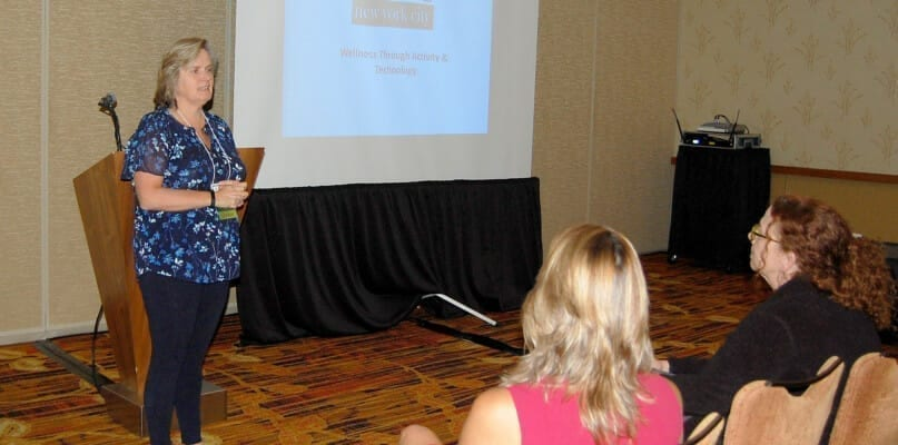 Sandra Moody, Chief Quality Improvement Officer, AHRC NYC speaks at the conference