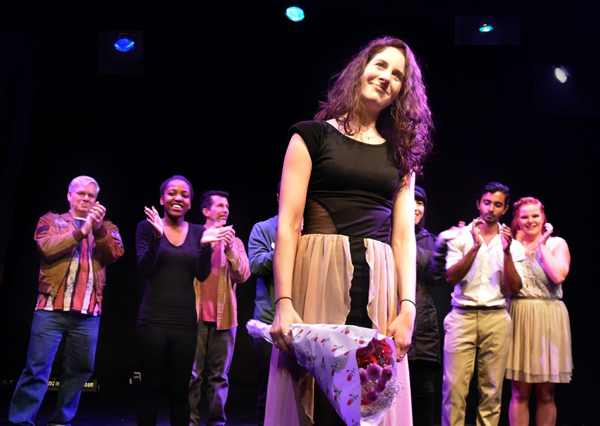Dori Levit the director and producer of the evening's performances, received a long ovation at the conclusion of Love Revamped