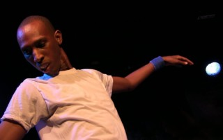 Jamel Mills performs on Broadway