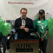 Marco Damiani. CEO of AHRC New York City thanked the volunteers for their efforts at AHRC Fisher Day Center