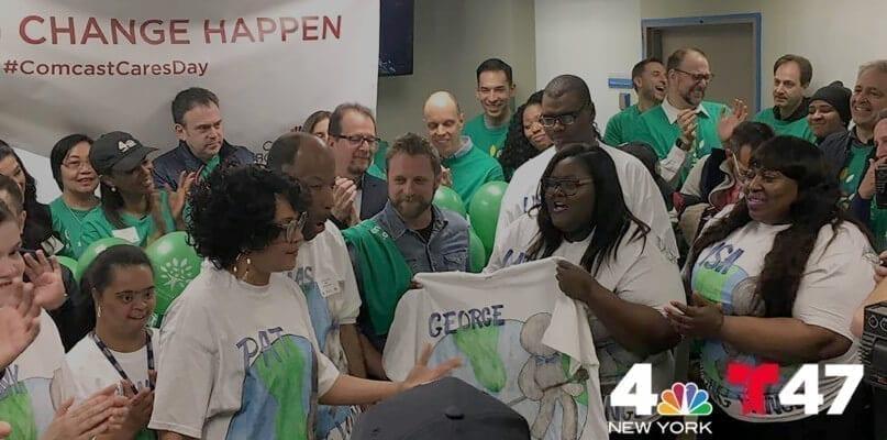 News 4 NY and Telemundo coverage of Comcast Cares Day