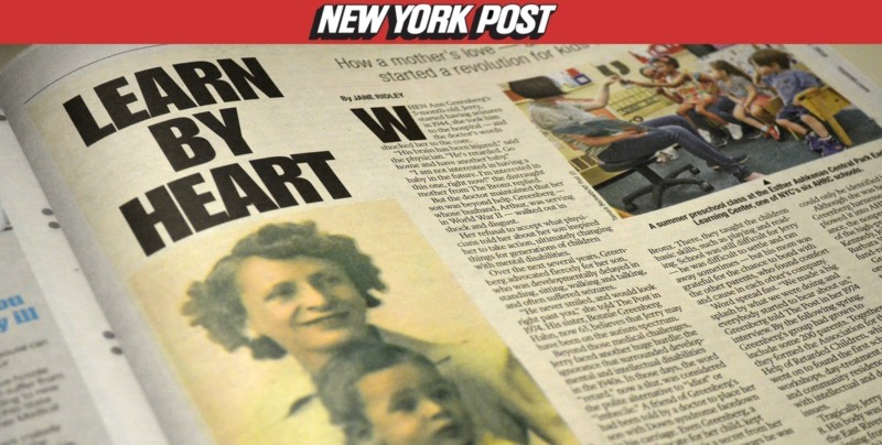 New York Post article Learn by Heart