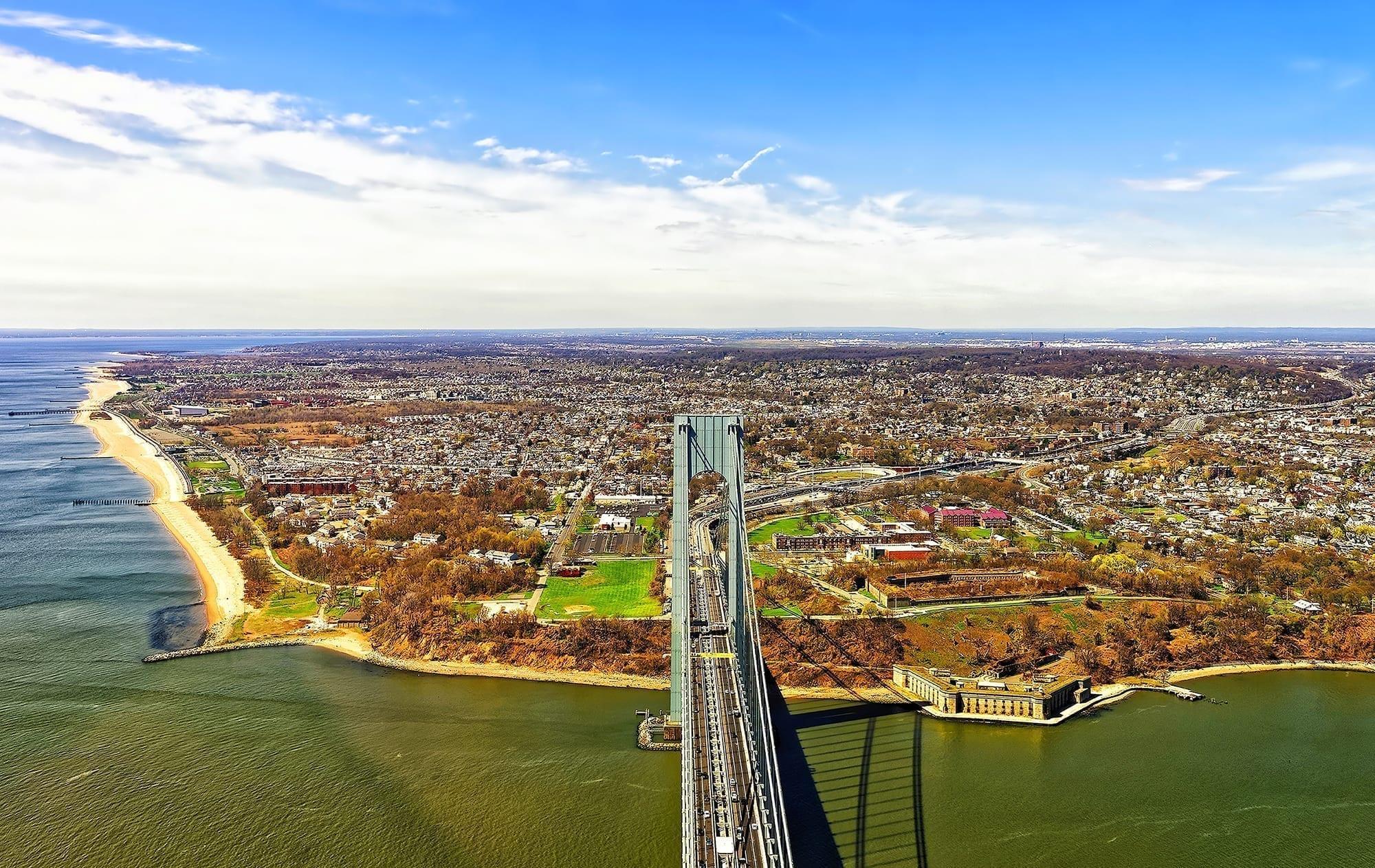 The Verrazano-Narrows Bridge, leading into Staten Island
