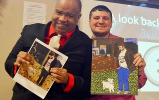 Artist, Arthur Fairchild with AHRC NYC's Communications Coordinator, Dylan Watton
