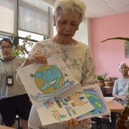 Natalya Kravtsova shows artwork that were created as a part the water club