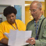 Seth Krakauer of AHRC NYC's Organizational and Employee Development helps to coordinate organization wide DSP appreciation efforts with program staff