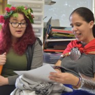 Destynee Villoch, Community Support Professional at Styler Center, with Yesenia Quinones