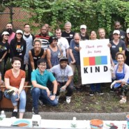 KIND Employees with staff and people supported from AHRC NYC's Cyril Weinberg Day Center