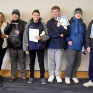 Students from AHRC Middle High School received certificates of completion for their work in the Pace service learning project