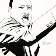 A sketch of Dr. King created by Cynthia Soto and Ben Granoff, Art Consultant