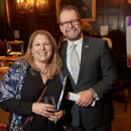 Jennifer Goodwin, Executive Director of the AHRC New York City Foundation with Marco Damiani, CEO of AHRC NYC