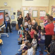 The smartboard at Francis of Paola Early Learning Center allows children and staff to learn togehter in an exciting environment 2