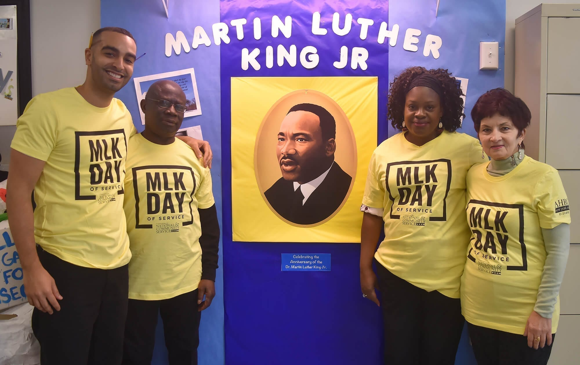 Wendy M. Siegel Center staff members at the MLK Day of Service