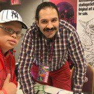 Alex Torres with artist, Michael Gerlich