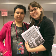 Artist Gaby Ramirez met other comic book creators at PowCon