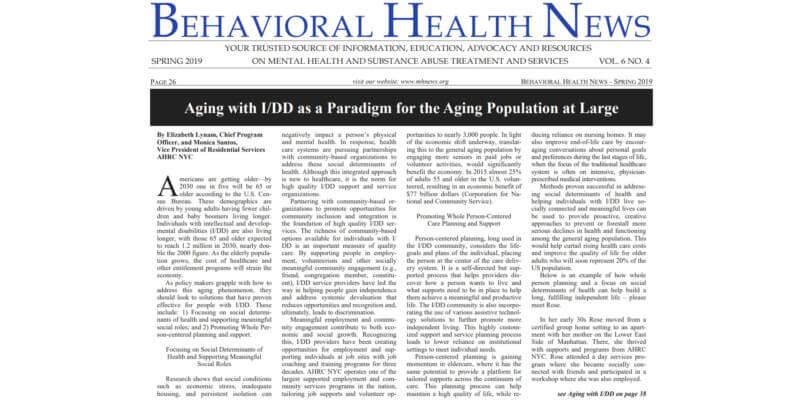Behavioral Health News