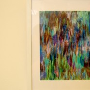 An example Oswald James' colorful, abstract style