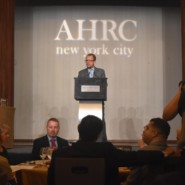 Marco Damiani, CEO of AHRC New York City, greets guests at the 70th Annual Dinner