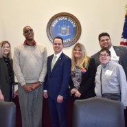 AHRC NYC staff members and self advocates with Senator David Carlucci of Rockland County