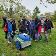 Camping and Recreation's Outdoor Adventure Club held its first camping trip at Floyd Bennett Field