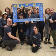 Comcast, NBCU, and AHRC NYC staff came together for a fun day of volunteering