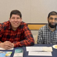 David Olenick and Adil Sinai provided information about AHRC NYC programs at the Pace Film Festival