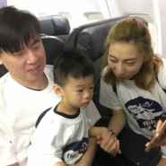 Eason Wu with parents Tom Wu and Zoe Zhang