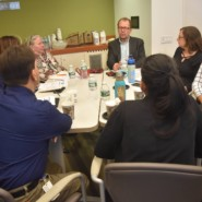 Marco Damiani, CEO, discussed issues around cultural and linguistic competency with other AHRC NYC senior leadership