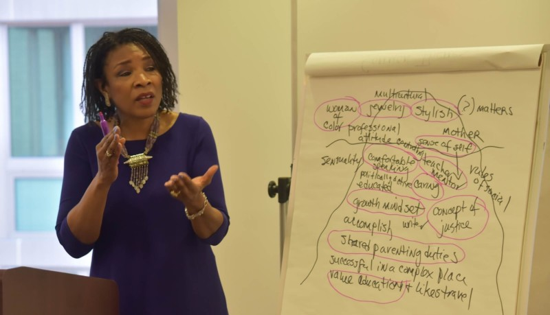 Professor Tawara Goode used her own life as an example of the iceberg theory of interpreting culture