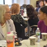 Sharyn Van Reepinghen, President of the AHRC NYC Board of Directors, with Marrissa McMillian, Article 16 Clinic Administrator
