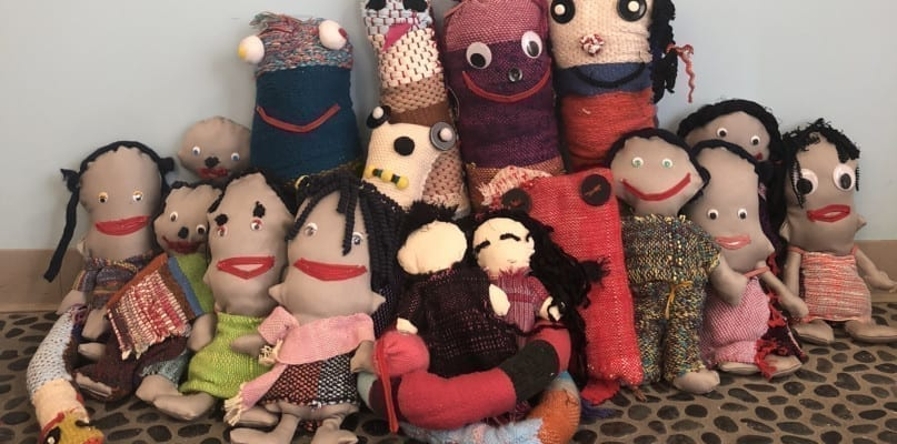 Imaginative stuffed characters were created by artists at AHRC NYC's Kings Highway Day Center