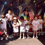 Children and teachers enjoyed the photo booth at Howard Haber ELC's Summer Carnival.