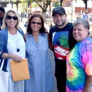 Christina Muccioli with some of the people who helped make the Howard Haber Carnival possible.